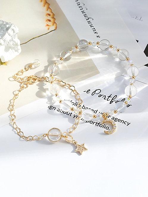 CR099 「智慧之石」白水晶手鍊