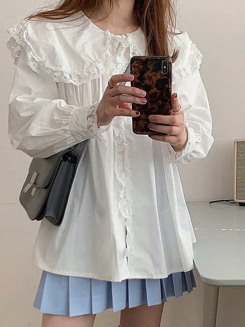 SH760 蕾絲娃娃領氣質上衣