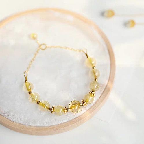 CR018 14K包金金髪晶手鏈