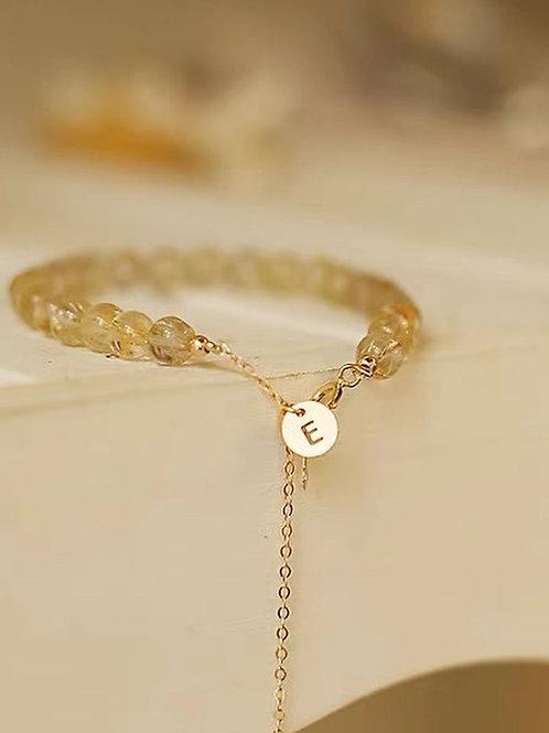 CR182 「聚財」金髮晶手鍊