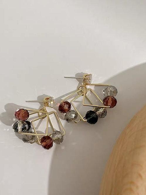 ER021 韓版氣質串珠耳環(925銀針/耳夾)