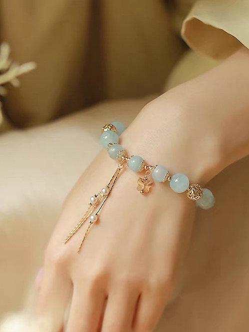 CR155 「增自信」海藍寶手鍊