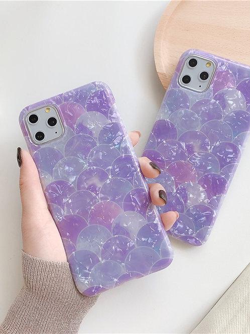 CS668紫色貝殻紋包邊軟殻