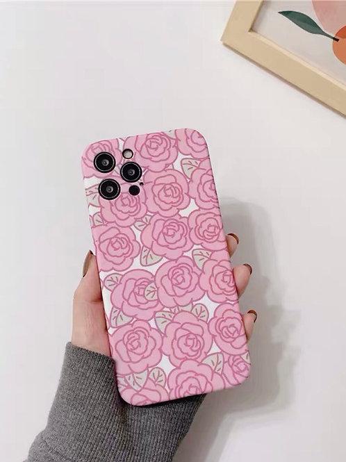 CS734簡約粉玫瑰包邊軟殻