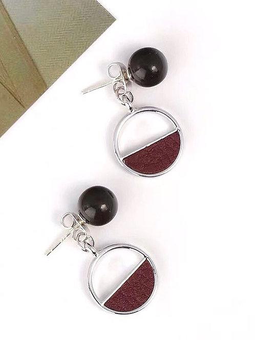 韓風簡約圓圈耳環 (925銀針/耳夾)