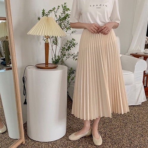 SH527 秋季百褶氣質半身裙