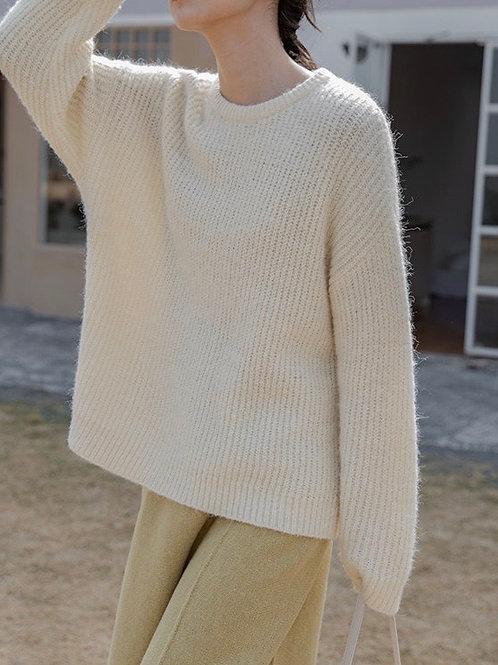 SH747 純色簡約針織上衣
