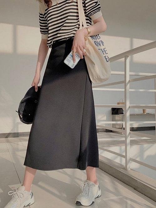 SH046 純色修身百搭半身裙