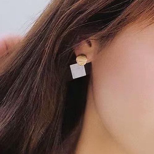 韓風簡約百搭耳環 (925銀針)
