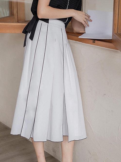 SH120 蝴蝶結立體線條設計裙