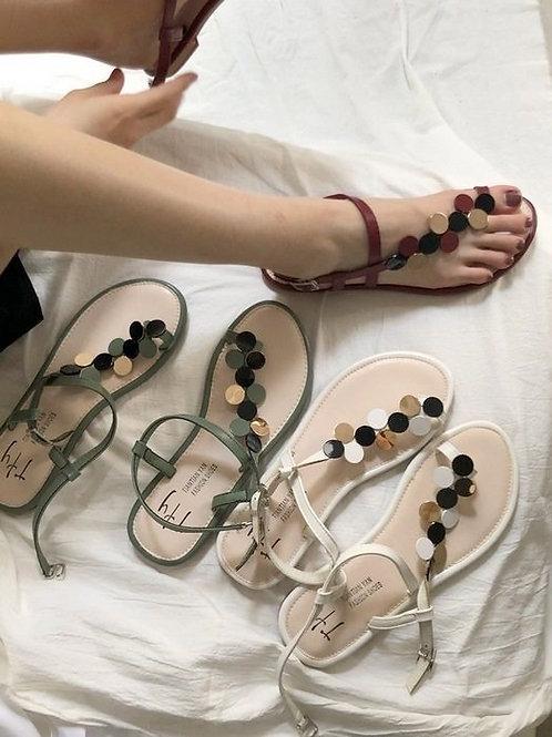 SE336 夏季金屬亮片涼鞋