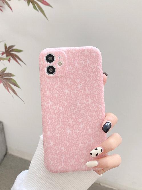 CS615粉色豹紋包邊軟殻
