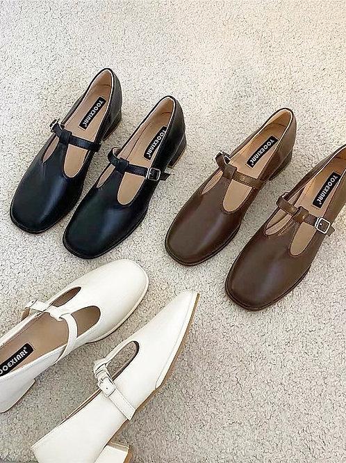 SE221 復古瑪麗珍高跟鞋
