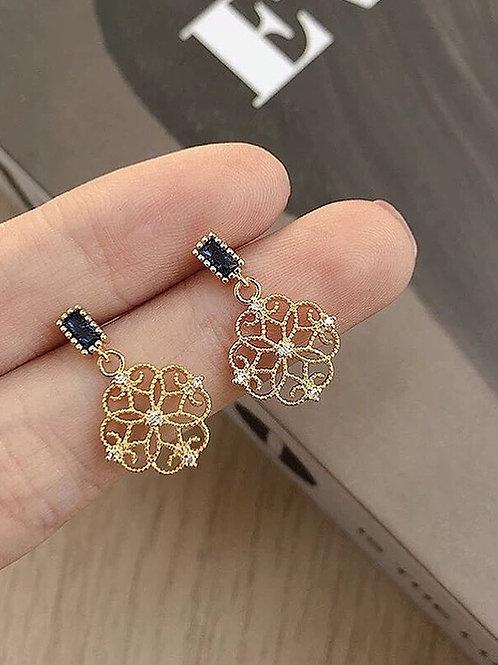 氣質輕巧耳環 (925銀針/耳夾)