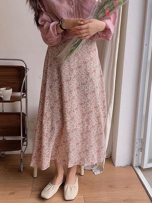 SH016 仙氣雪紡碎花半身裙