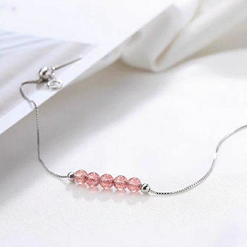 CR007 925銀草莓晶手鏈
