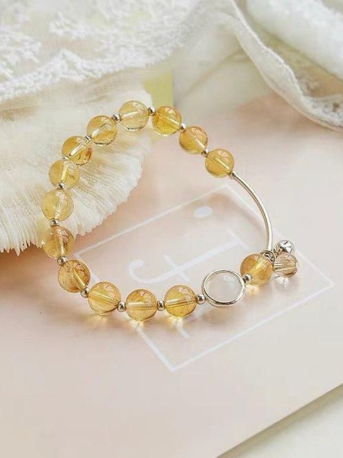 CR049 「聚財增自信」黃水晶手鍊