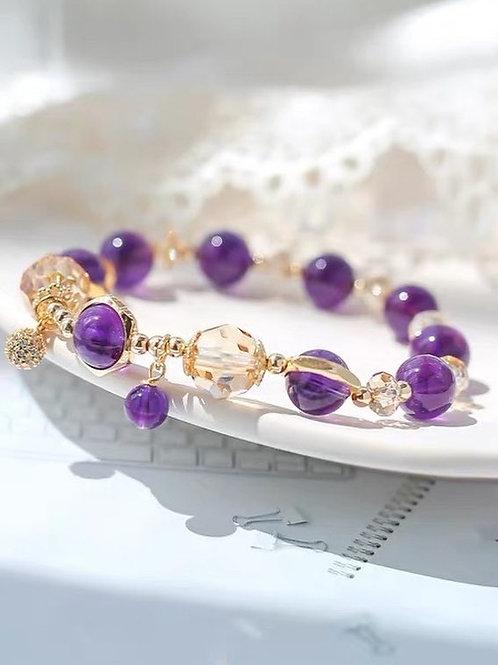 CR133 「增強記憶力」紫水晶手鏈