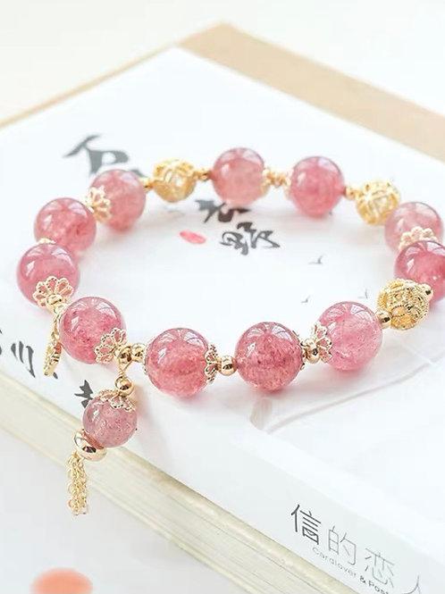 CR125 「提升愛情運」草莓晶手鍊