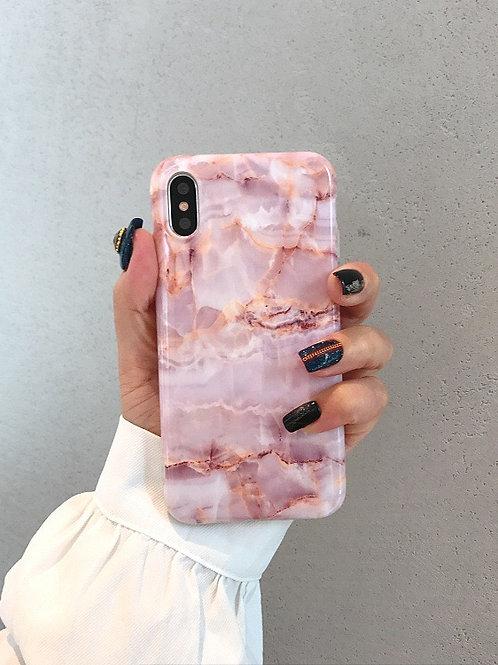 CS630粉色大理石紋包邊軟殻