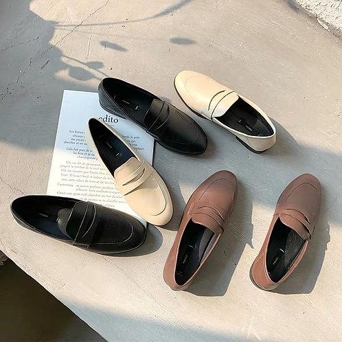 SH208 韓版復古圓頭鞋
