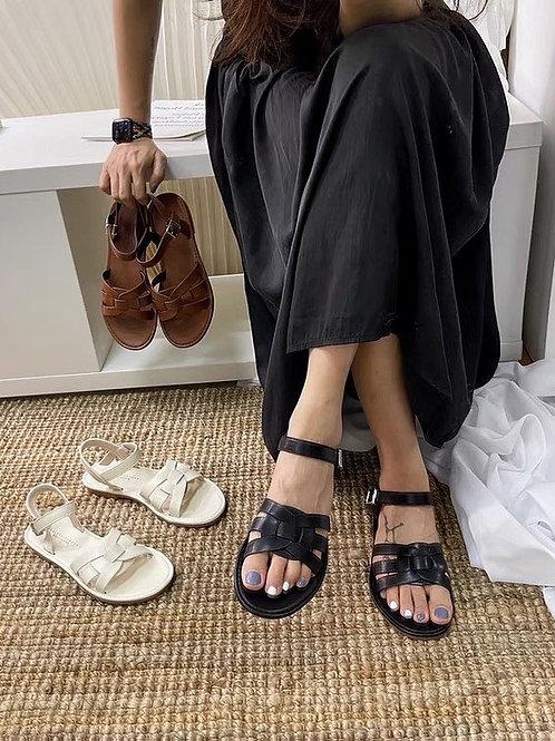 SE368 百搭編織軟底涼鞋
