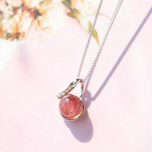 CR005 925銀草莓晶項鍊