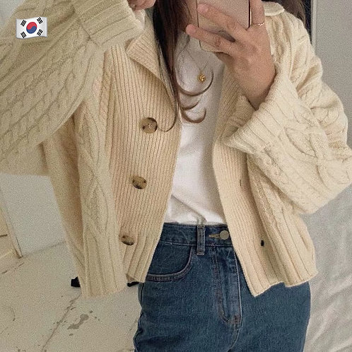 KR035 韓國百搭休閒針織外套