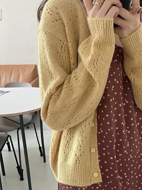 KR033 韓國純色百搭針織外套