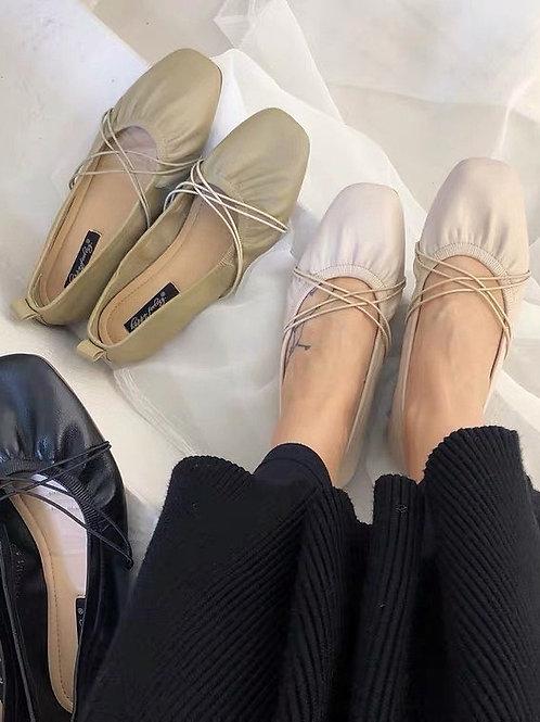 SE268 韓版簡約軟底平底鞋