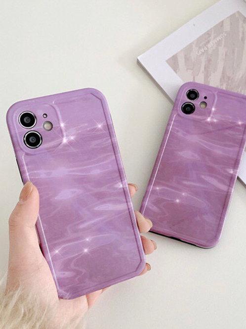 CS694簡約紫色包邊軟殻