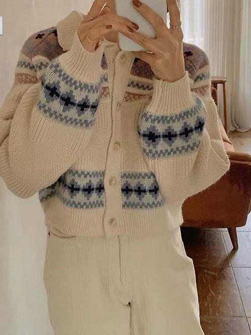 KR037 韓國民族風針織外套