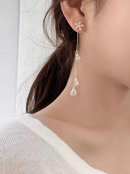 ER010 精緻水滴耳環(925銀針/耳夾)