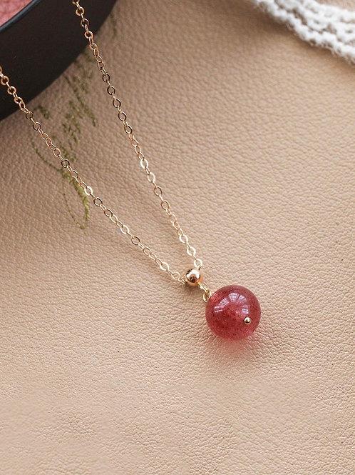 CR085 「增人緣」草莓晶項鍊