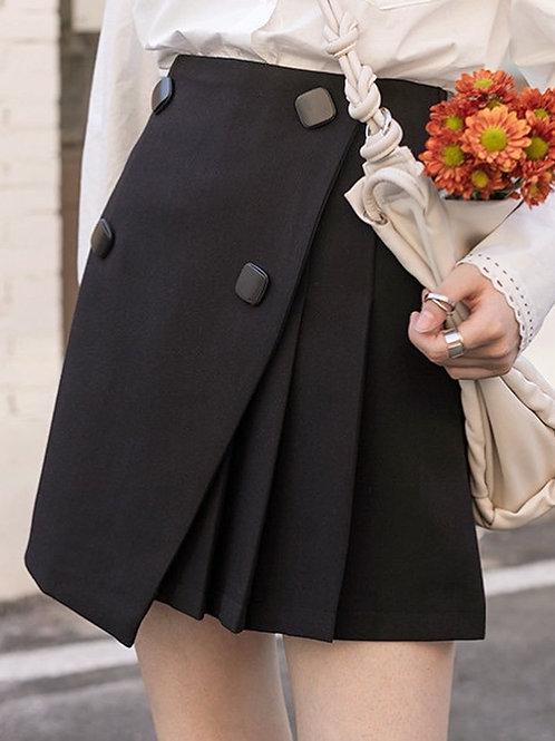 SH757 復古設計感半身裙