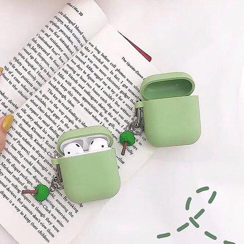 CS019抹茶綠純色AirPods 耳機套
