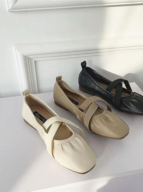 簡約交叉平底鞋