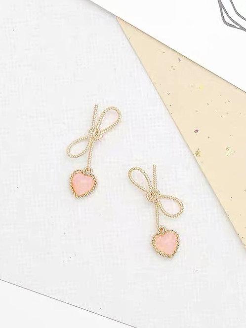 可愛蝴蝶結耳環(925銀針/耳夾)