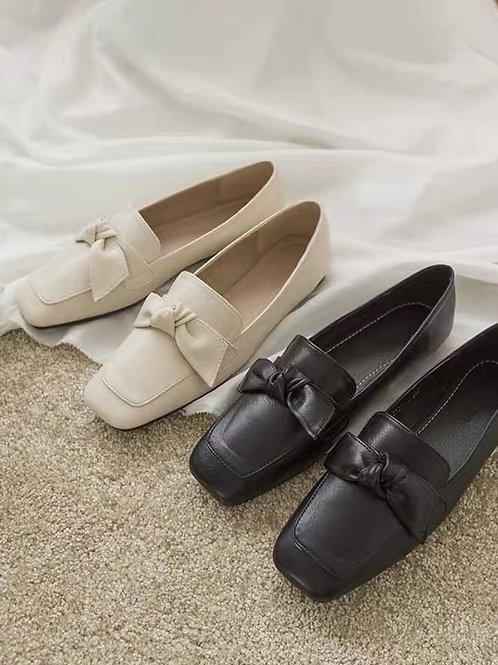 SE184 方頭蝴蝶結平地鞋