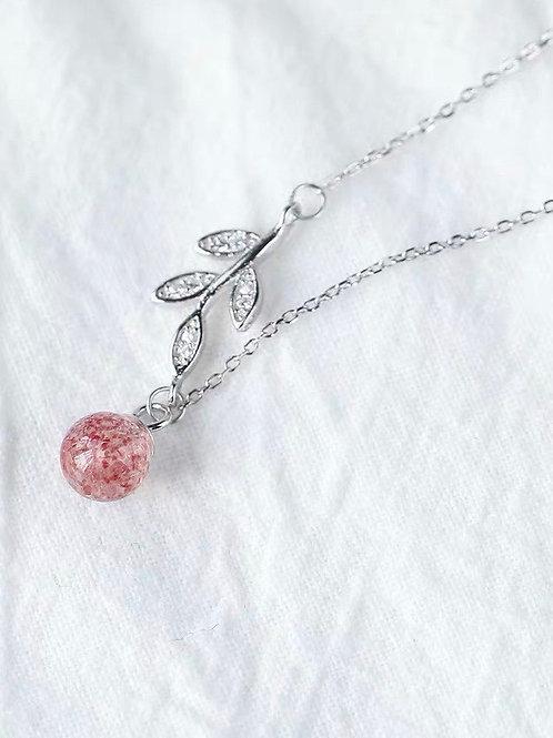 CR060 「增人緣」草莓晶項鍊