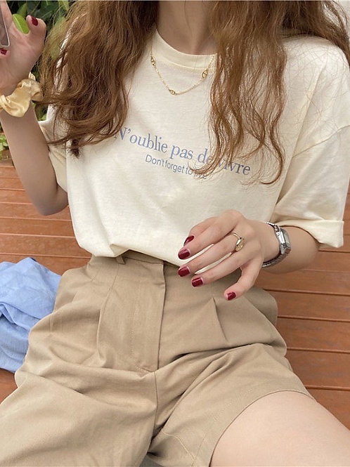 SH023 韓系印花字母T恤