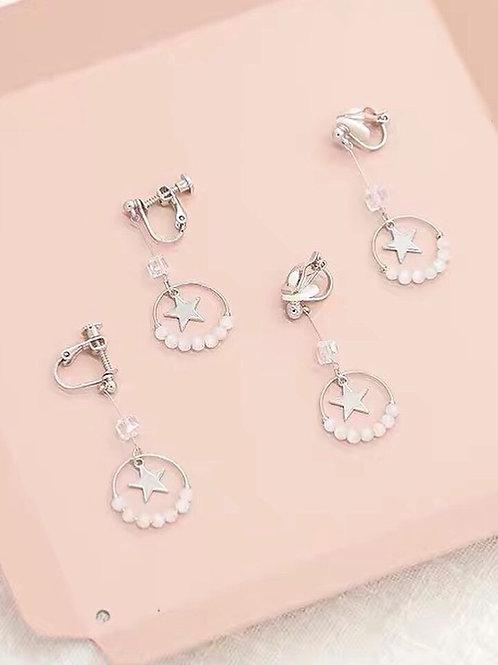 別緻韓風星星耳環(925銀針/耳夾)