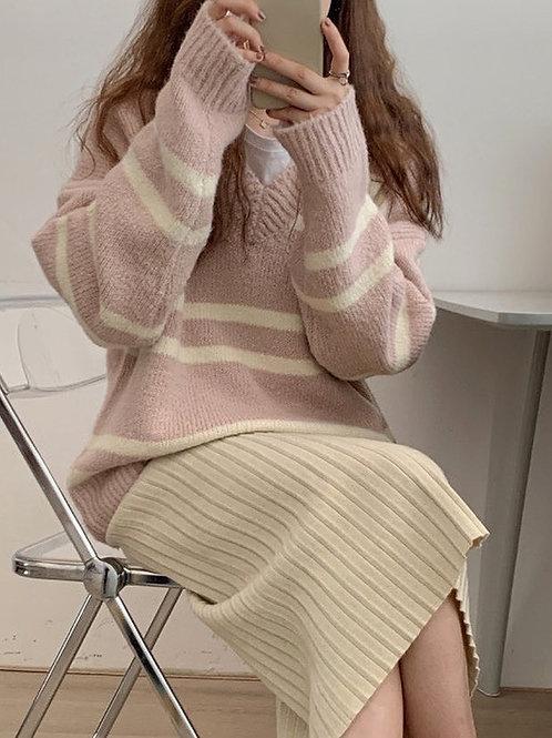 SH611 秋冬簡約氣質針織上衣