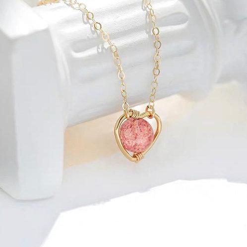 CR090 「增人緣」草莓晶項鍊