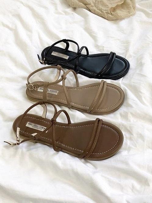 SE338 簡約一字帶涼鞋