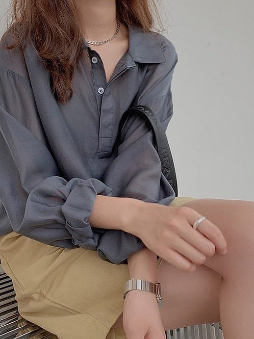 SH107 休閒純色防曬上衣