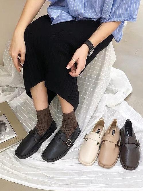 SE242 韓系復古文藝平底鞋