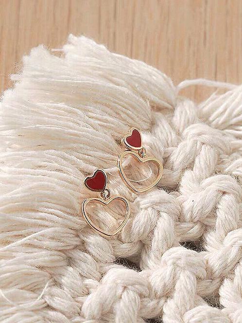簡約愛心耳環 (925銀針/耳夾)