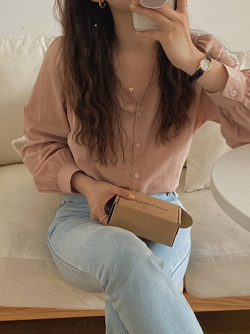 SH851 仙氣蕾絲純色上衣