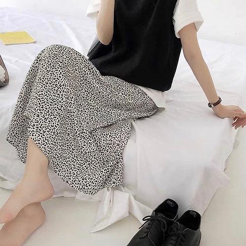 SH520 秋季百搭韓系豹紋半身裙